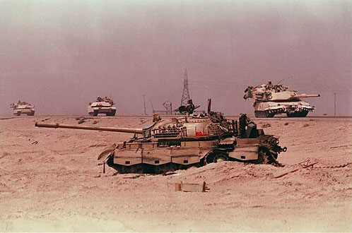 Iraqi Tank After The Liberation Of Kuwait Operation Desert Storm